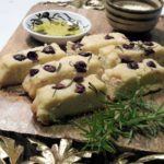 Grain Free Focaccia Bread with Olives & Rosemary