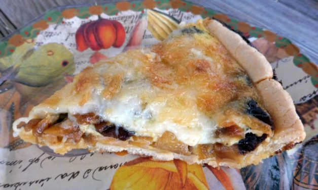 Caramelized Onion, Mushroom and Gruyere Quiche