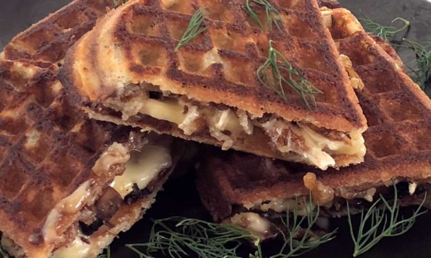 Savory Grain Free Grilled Cheese Waffles