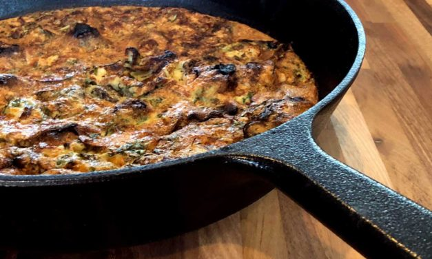 Cauliflower Rice Arugula Frittata